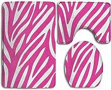 N\A Zebra Print Soft Comfort Badezimmerteppiche