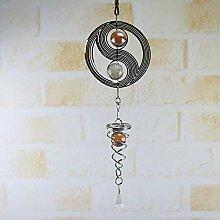 N\C Windspiel, spiralförmig, drehbar, japanischer
