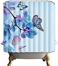 N/ Schmetterlinge und Orchideen Badezimmer