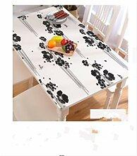 N/ Transparente bedruckte Tischdecke aus PVC für