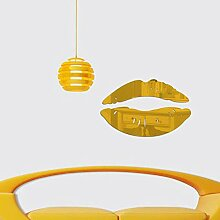 N/Z Lippen Acrylspiegel Aufkleber Wandraum TV