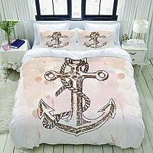 N2 Bettwäsche-Set,Hand gezeichneter Anker auf