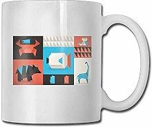 NA Origami Tier lustige Kaffeetasse Coole