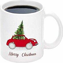 NA Weißer Weihnachtsbecher mit Weihnachtsbaum und