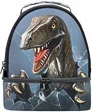 Naanle 3D Evil Dinosaurier bricht durch das Glas,