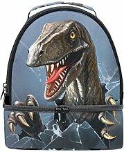Naanle 3D Evil Dinosaurier durchbricht das Glas