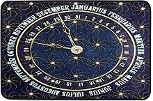 Naanle Antik Kalender Eingang Fußmatte