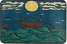 Naanle Boot mit Paddel Eingang Decor-Fußmatte