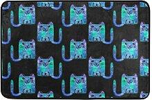 Naanle Cartoon Katzen Eingang Decor-Fußmatte