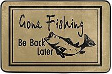 Naanle Eingang Fußmatte Gone Fishing später