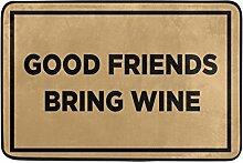 Naanle Eingang Fußmatte Good Friends beschaffen