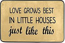 Naanle Eingang Fußmatte Love wächst Little