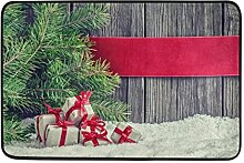Naanle Eingang Fußmatte Merry Christmas Kleine