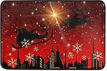 Naanle Eingang Fußmatte Merry Christmas Santa