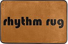 Naanle Eingang Fußmatte Rhythm Teppich Indoor
