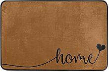 Naanle Eingang Fußmatte Sweet Home Decor-Herz