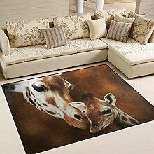 naanle Kiss Giraffe Animal rutschfeste Bereich