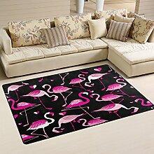 naanle mit Flamingos, rutschfest, Bereich Teppich