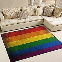 Naanle Rutschfester Teppich für Wohnzimmer,