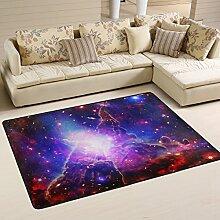 Naanle Star Teppich, Rutschfest, für Wohnzimmer,