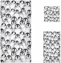 Naanle süße Baby-Pinguine Skizzenmuster, weich,