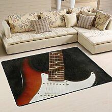 Naanle Teppich für Musikbereich, Gitarre,