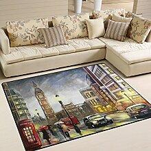 Naanle Teppich für Wohnzimmer, Esszimmer,