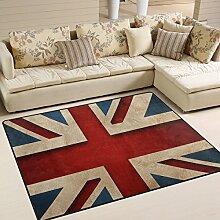 Naanle Teppich mit britischer Flagge,