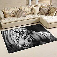 Naanle Teppich mit Tiger-Motiv, geheimnisvoller