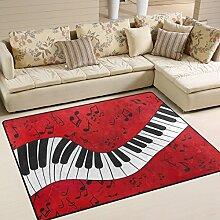 Naanle Teppich, Musiknote, Klaviertastatur,