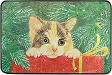 Naanle Weihnachten Katze Eingang Fußmatte