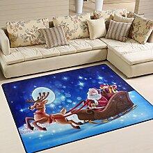 naanle Weihnachten Urlaub Bereich Teppich, Santa