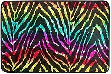 Naanle Wild Zebra Eingang Fußmatte Rainbow