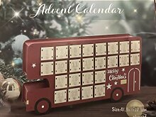 Naarden Adventskalender zum Befüllen Holz Bus - ro