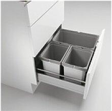 Naber Abfallsammler Cox® Box 235 S/600-3 hellgrau