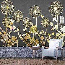 Nach 3D Wandmalereien Tapete Goldene Geprägte