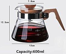 Nach dem hitzebeständigen Glas Kaffee 400 ml /