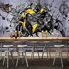 Nach Wandbild Tapete 3D Stereo Gelb Motorrad