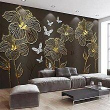 Nach Wandbild Tapete 3D Stereo Goldenen Relief