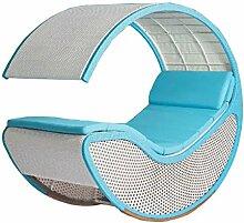 Nachahmung bambus - rattan wicker schwingstuhl / schaukelstühle / schwingsessel / gartenliege / gartensessel / sonnenliege / liegestuhl / strandstuhl / relaxliege / lounge sessel / longue / relaxstuhl / relaxsessel / sitz
