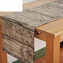 Nachahmung Holz Wasserdicht Baumwolle, Leinen Tischdecke/Tee Tischdecke/Tischtuch/Hintergrund-A 40x180cm(16x71inch)