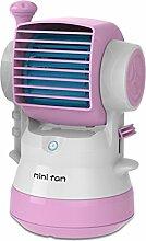 NACHEN Usb Luftbefeuchter Spray Fan Mini Tragbares Wiederaufladbares Wasser Klimaanlagenventilator,Pink,11*11*19CM