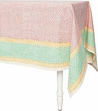 NACHHALTIG Fäden 451–08-pr Teneriffa Baumwolle Tischdecke, 152,4x 152,4cm Pink/Grün