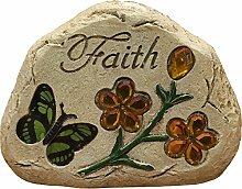 "Nachricht Jeweled Butterfly Stone ""Faith"
