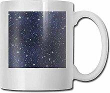 Nacht-Porzellan-Tassen für Kaffee, ruhige blaue