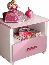 Nachtkommode weiß rosa Mädchen Nachttisch