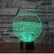 Nachtlicht 3D Led Aquarium Form Tischlampe