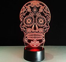 Nachtlicht 3D Led Lampe Schädel 3D Lichter Kinder