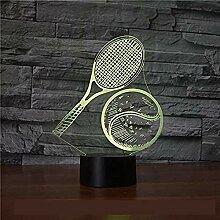 Nachtlicht 3D Tennis Stil Nachtlicht Illusion
