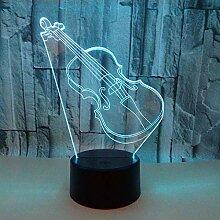 Nachtlicht 3D Tischlampe Violin Gitarre 3D Licht